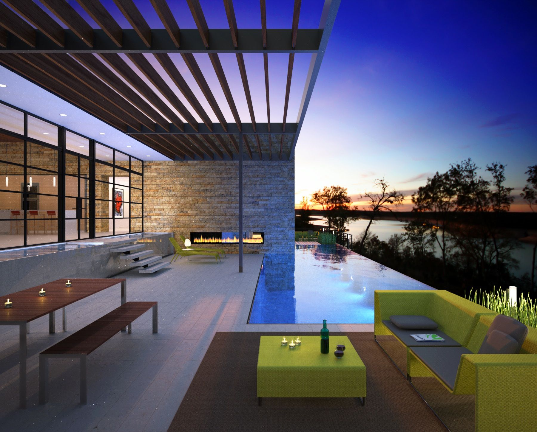 Luxury modern home to be built by foursquare builders Lake house builders