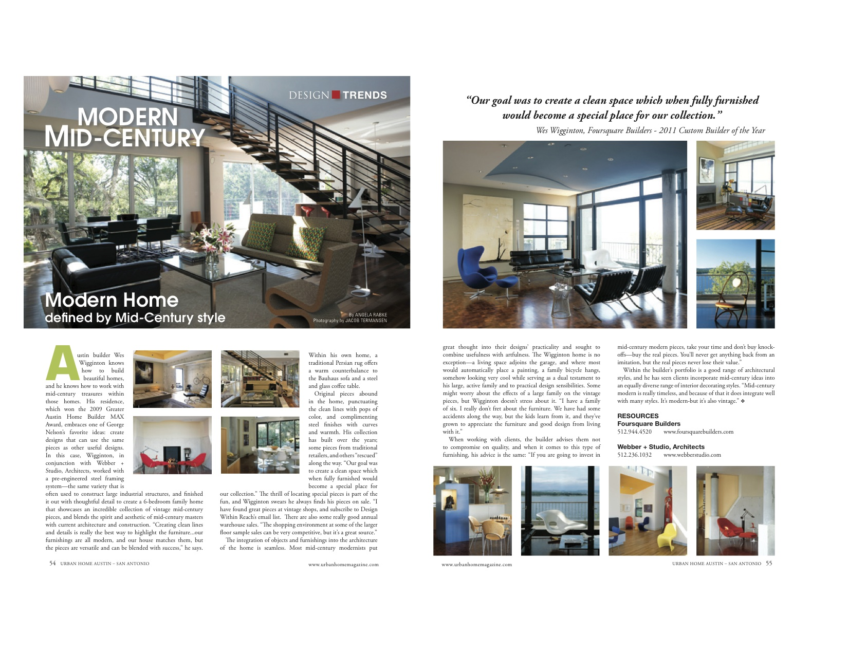 luxury home builder modern mid century furniture